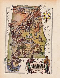Hey, I found this really awesome Etsy listing at https://www.etsy.com/listing/192288220/map-of-alabama-from-1946-by-french