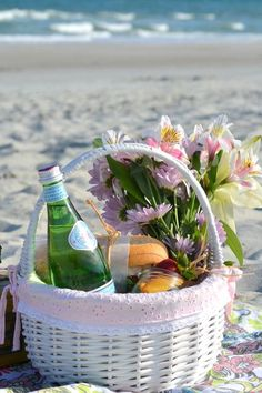 Let's hit the sand and have a fabulous beach picnic! Pack a Picnic Basket with some yummy bites and a bottle of Wine, and grab a Blanket. Beach Picnic, Summer Picnic, Summer Fun, Summer Time, Summer Days, Summer Things, Summer Loving, Hello Summer, Summer Beach