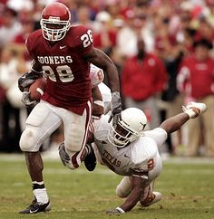 Adrian Peterson believe it or not my 2nd favorite running back to play @ OU!!