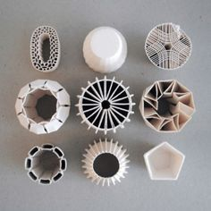 3D Printed Ceramics | Fabneo - an online boutique for 3D printed jewelry, art lighting on www.fabneo.com 3D printing service - http://www.sunruy.com/