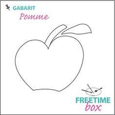 Tuto DIY - Pas à pas - Gabarit pomme pour couverture de carnet