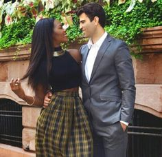 Gorgeous newly engaged interracial couple #love #wmbw #bwwm