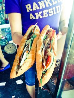 According to Anthony Bourdain, these Vietnamese bahn mi sandwiches in Hoi an, Vietnam, are the best he has ever had. I couldn't agree more. Ironically, the stand was right around the corner from where we stayed. They have no idea how famous they are.