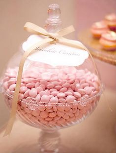 I would love to have pink chocolate and candy all the time