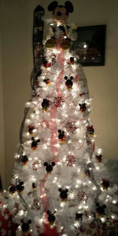 My Mickey Mouse xmas tree my son would truly have his christmas made by this