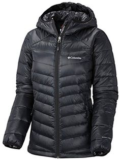 Columbia Women's Gold 650 TurboDown Radial Down Hooded Jacket, X-Small, Black *** Visit the image link more details.