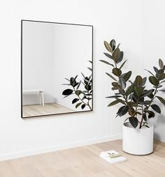 Flynn Rectangular Mirror - Black 100 x 120CM|flynn mirrors, rectangle mirrors, modern mirrors, matte finish, black