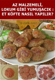 How to Make Meatballs? - I have a delicious meatball recipe with few ingredients, easy to make. Are you ready to make the be - Meatball Recipes, Meat Recipes, Snack Recipes, Dessert Recipes, Drink Recipes, How To Make Meatballs, Tasty Meatballs, Turkish Recipes, Ethnic Recipes
