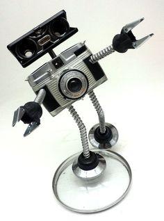Lancer Assemblage Steampunk Robot Sculpture by DonLJones on Etsy, $85.00