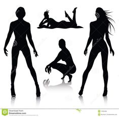 Illustration about Vector set of woman silhouette. Illustration of girl, graphic, dancer - 13332465 Woman Silhouette, Silhouette Vector, Web Design Tutorials, Comics Girls, A Perfect Day, Blog Tips, Art Images, I Tattoo, Light In The Dark