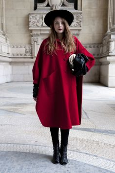 Paris Street Style, Fall 2013 thefashionspot, not something I would ever wear, but I appreciate the art behind it