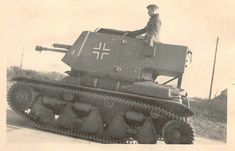 A captured French Renault R35 chassis modified for German use designated Panzerjager 35R (f)