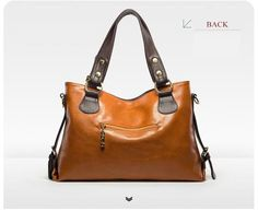 Trendy  Genuine Leather  Shoulder Tote Bags Lichee Pattern