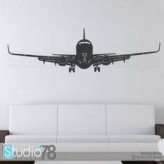 Airplane Wall Decal   Airplane Decor   Childrens Decor   Nursery Wall Decals    Airplane Sticker