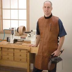 Woodturner's Leather Apron - Rockler Woodworking Tools