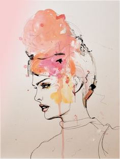 fashion girl art print