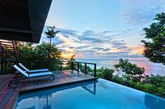 Private terrace with infinity pool