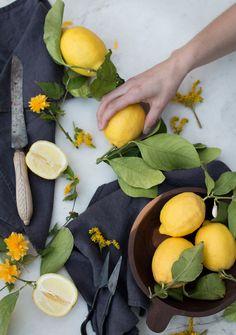 Lemons, vegan spring salad and food photography workshop - The Little Plantation