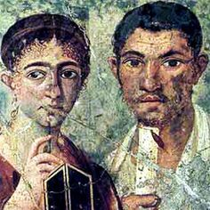 Portrait of baker Terentius Neo and his wife. Pompeii, AD 55–79.