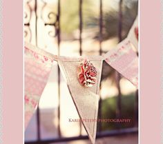 Shabby Chic Fabric Banner / Country French / by madglamapparel, $45.00