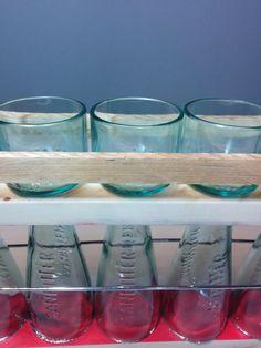 handmade six glasses cut from sanbitter bottles di GARAGEbySilvio