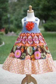 How to make a twirl dress from denim bibs | DIY Crush