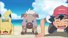 """Pokémon — The Series: Sun & Moon   Season 1   FULL English Episode 15 — """"Rocking Clawmark Hill!"""".  One night, Ash returns home to find that Rockruff, who had been watching the house, has been injured. He tries setting up a surveillance camera to find out the reason for this, but...?! #pokemon #toys #fun #love"""