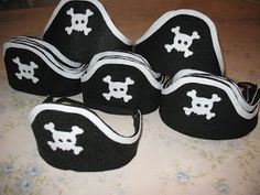 Artsy Fartsy: Felt Pirate Hats. One hat and one hook from one piece of felt.