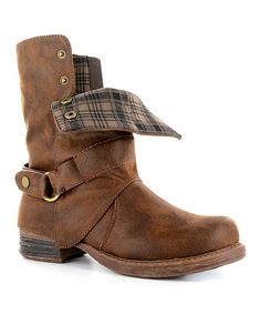 Loving this Corkys Footwear Brown Distressed Roughout Boot on #zulily! #zulilyfinds