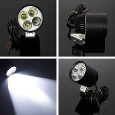 LED R2 Driving Spotlightt Daytime Running Light Bike Car Motor