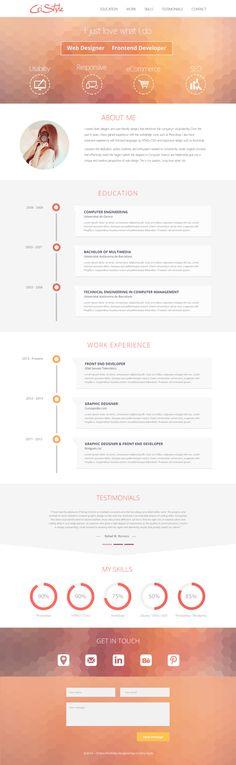 PixPivot : Download Resource for User Interface Designec ~  My visual resume - Flat UI Design  #webdesign #it #web #design #layout #userinterface #website #webdesign #pixpivot #pixpivot.com #ui_kit #download #free_psd #flat #round #square  #icons #iphone #web app #device_mockup #My #visual #resume #Flat #UI #Design