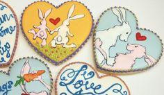 Rabbits (Heart Cookie Cutter)