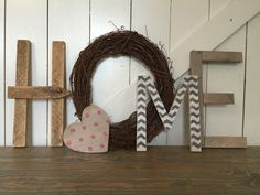 HOME is where the heart is! Just like our NOEL and LOVE, the HOME display is LARGE and perfect for an entry shelf, mantle or anywhere in your