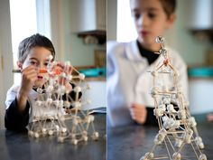 Marshmallow and toothpick sculptures. I loved these as a kid!