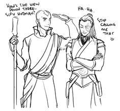 Aang turned out to be the tallest. Aunt Wu did say the powerful bender Katara would marry would be tall (or did she?).