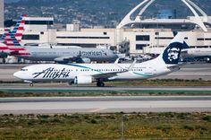 """Alaska's """"Employee Powered"""" at LAX on March Alaska Airlines, Commercial Aircraft, Airplane, March, Travel, Model Airplanes, Picture Layouts, Plane, Trips"""