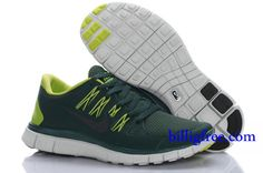 Billig Schuhe Damen Nike Free 5.0 + (Farbe:Vamp-grun,innen-gelb,Logo-schwarz;Sohle-weiB) Online Laden.
