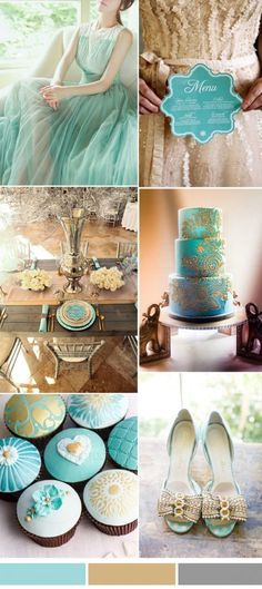 island paradise aqua and gold wedding color inspriation ideas from Pantone