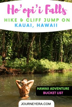 Ho'oip'i Falls Trail on Kauai is a short but action-packed hike taking you to two waterfalls. The first falls is a great spot for cliff jumping. Travel Advice, Travel Guides, Travel Tips, Budget Travel, Hawaii Hikes, Hawaii Travel Guide, Travel Usa, Beach Travel, Us Road Trip