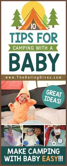100 Ideas For Camping With Kids - from The Dating Divas Great tips and ideas for Camping with a BABY! From The Dating DivasGreat tips and ideas for Camping with a BABY! From The Dating Divas Camping Ideas, Camping Hacks With Kids, Camping Diy, Camping Activities For Kids, Camping With A Baby, Retro Camping, Camping Guide, Camping Games, Camping Supplies