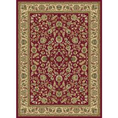 Bliss Rugs Litzy Traditional Area Rug, Red