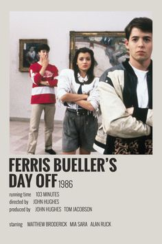 Alternative Minimalist Movie/Show Polaroid Poster - Ferris Buellers Day Off Iconic Movie Posters, Minimal Movie Posters, Minimal Poster, Movie Poster Art, Iconic Movies, Poster Wall, Poster Layout, Poster Prints, Future Poster