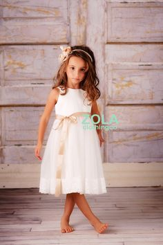 c3d6da39305 flower girl dress ivory by zolaclothingco on Etsy Bridesmaid Flowers