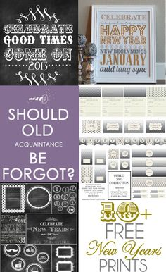 10+ Free New Years Prints on { lilluna.com } #newyears