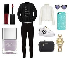 """Sans titre #4811"" by merveille67120 ❤ liked on Polyvore featuring Frame, adidas, Boohoo, Casetify, Rolex, Smashbox and Nails Inc."