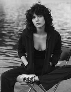Vogue Netherlands March Speed Of Life Model: Steffy Argelich Photographer: Ward Ivan Rafik Stylist: Dimphy den Otter Hair: Marion Anee Curly Bangs, Short Curly Hair, Curly Girl, Curly Hair Styles, Braid Bangs, Wavy Hair, Hair Inspo, Hair Inspiration, Mullet Hairstyle