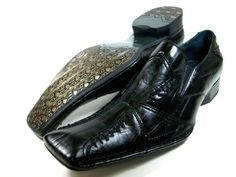 Mens Black Delli Aldo Cross Design Loafer Dress Casual Shoes Styled in Italy