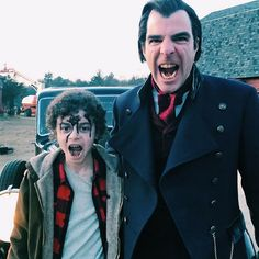 on the set Zachary Levi, Zachary Quinto, Nos4a2, Colton Haynes, Manx, Chris Pine, Mads Mikkelsen, Cillian Murphy, Ranbir Kapoor