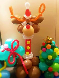 Mini Balloons, Balloons And More, Balloon Pictures, Balloon Ideas, Christmas Balloons, Christmas Decorations, Holiday Decor, Balloon Animals, Sculptures
