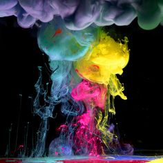 beautiful - ink under water. alberto seveso shoots high speed photographs of ink mixing with water.